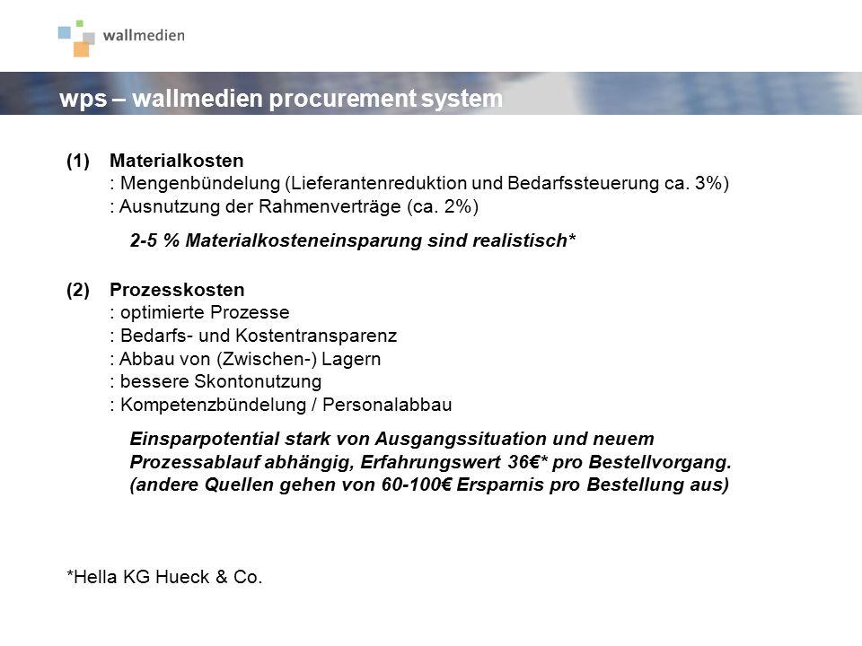 (1)Materialkosten : Mengenbündelung (Lieferantenreduktion und Bedarfssteuerung ca. 3%) : Ausnutzung der Rahmenverträge (ca. 2%) 2-5 % Materialkostenei