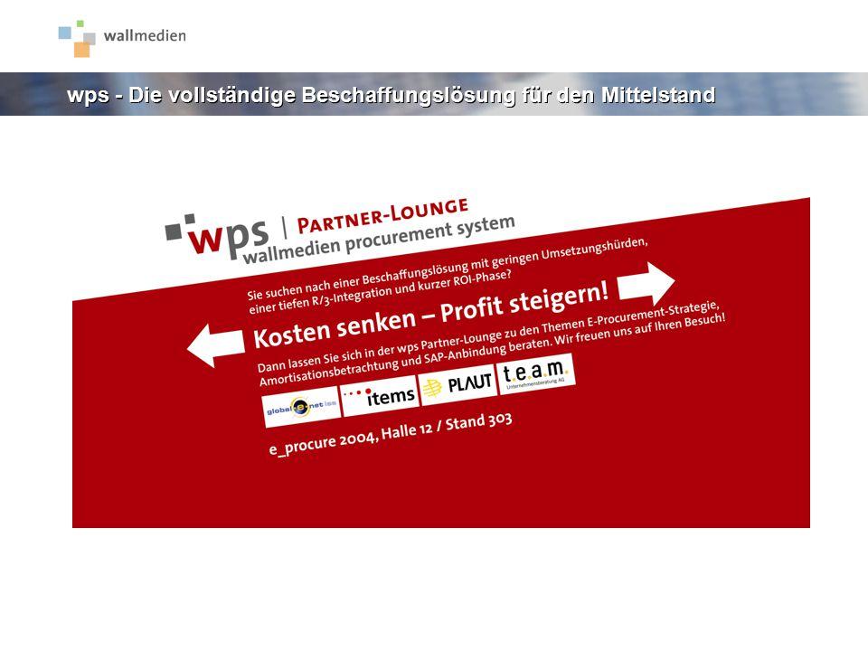 wps - Die vollständige Beschaffungslösung für den Mittelstand