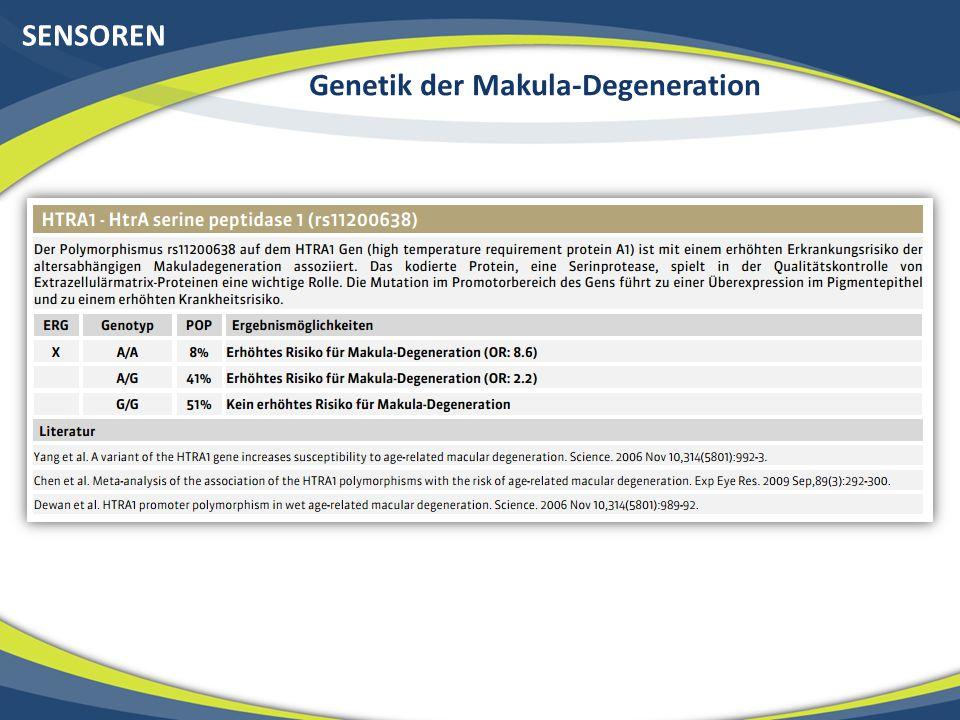 SENSOREN Genetik der Makula-Degeneration