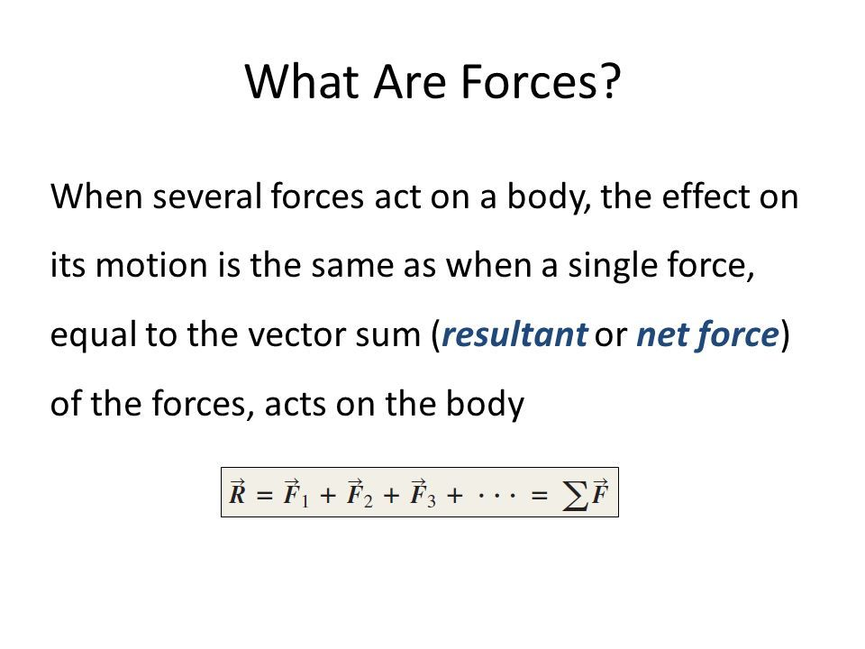 What Are Forces.