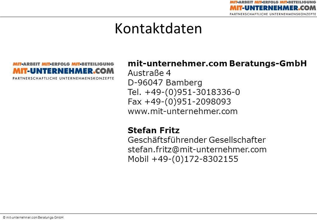Das erfolgreiche Vergütungsprojekt © mit-unternehmer.com Beratungs-GmbH 1.