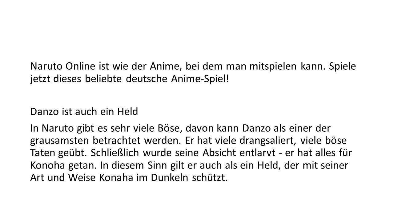Naruto Online ist wie der Anime, bei dem man mitspielen kann.