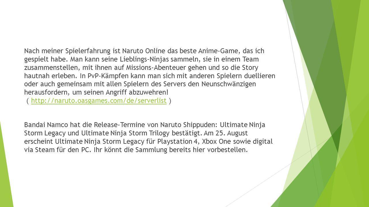Nach meiner Spielerfahrung ist Naruto Online das beste Anime-Game, das ich gespielt habe.