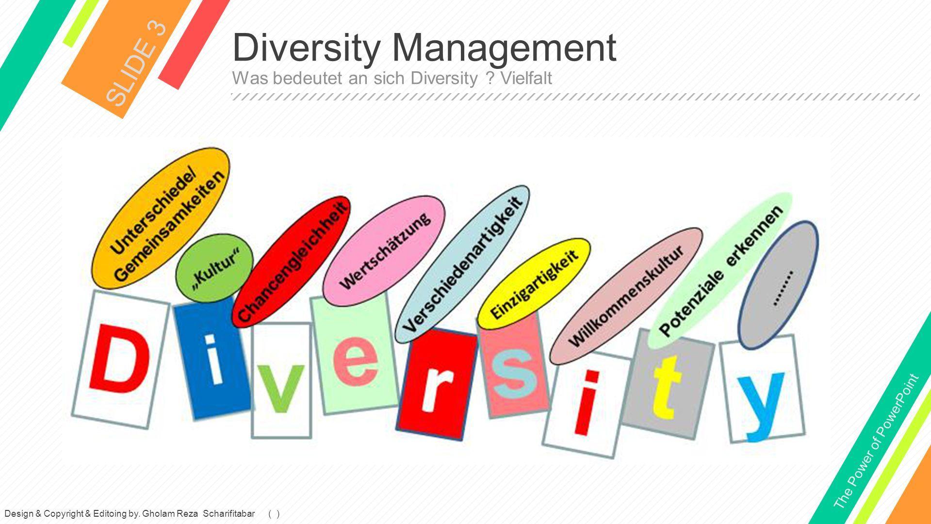 Diversity Management SLIDE 3 Was bedeutet an sich Diversity .