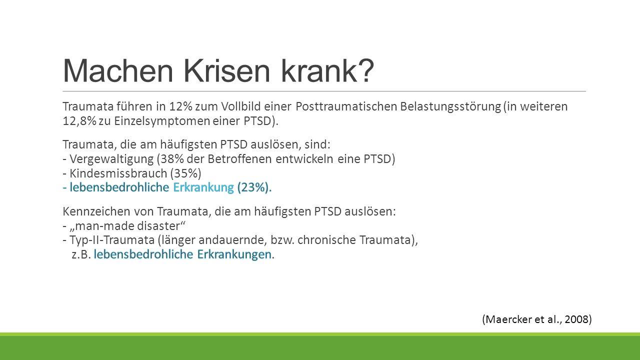 Machen Krisen krank (Maercker et al., 2008)