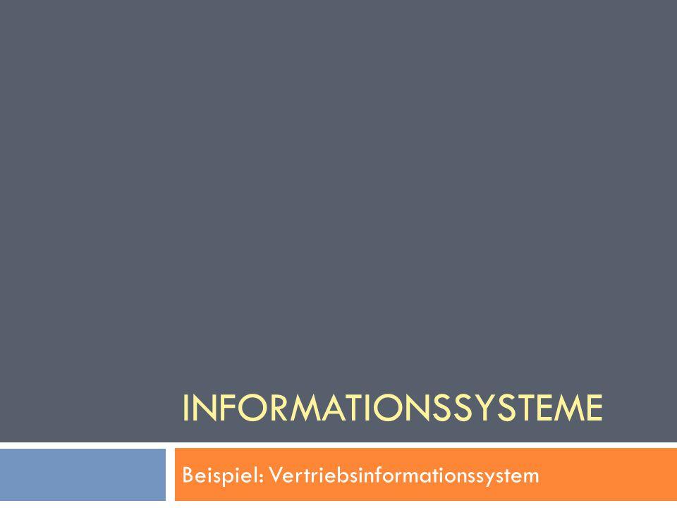 INFORMATIONSSYSTEME Beispiel: Vertriebsinformationssystem