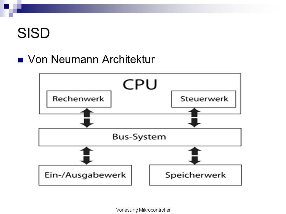Vorlesung Mikrocontroller SISD Von Neumann Architektur