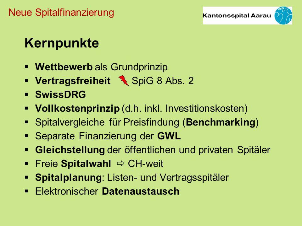 Neue Spitalfinanzierung Wettbewerb als Grundprinzip Vertragsfreiheit SpiG 8 Abs.