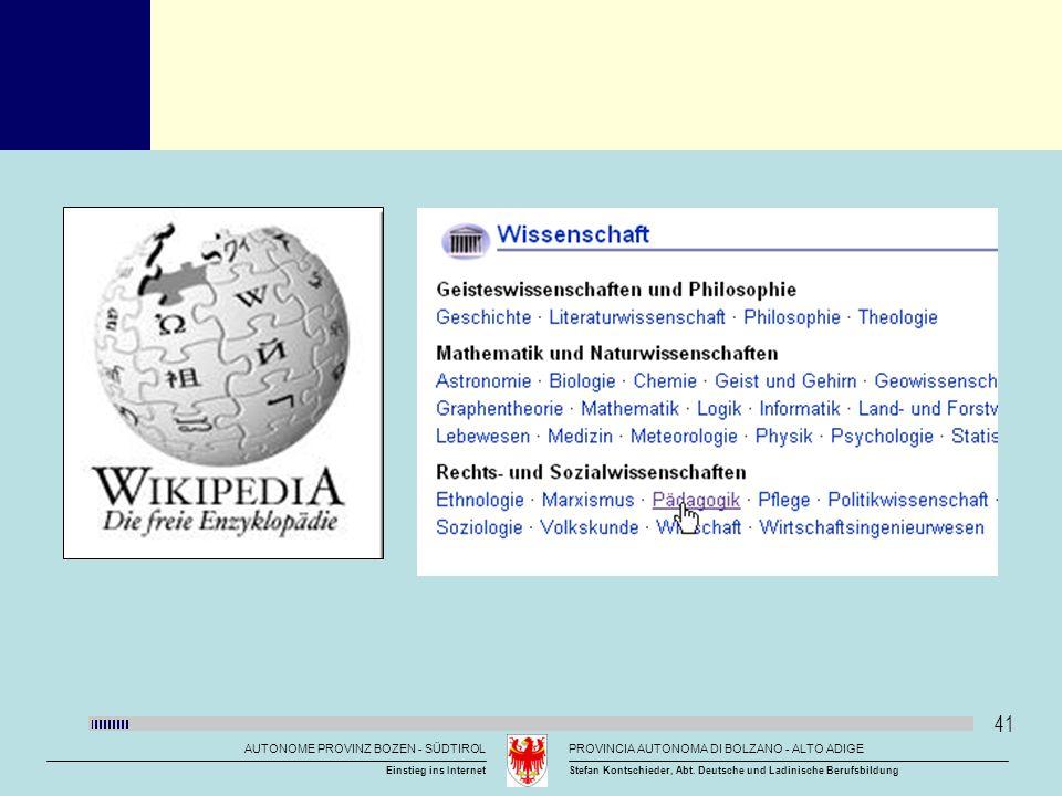 Titelmasterformat durch Klicken bearbeiten AUTONOME PROVINZ BOZEN - SÜDTIROLPROVINCIA AUTONOMA DI BOLZANO - ALTO ADIGE Stefan Kontschieder, Abt. Deuts