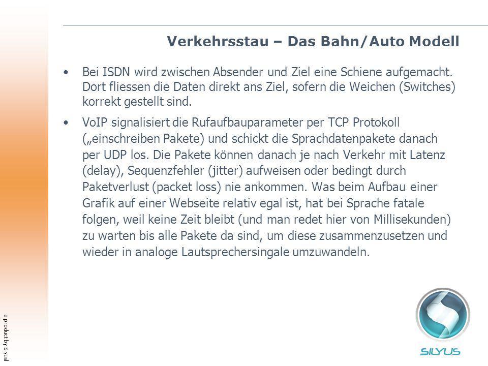 a product by Siyusl Verkehrsstau – Das Bahn/Auto Modell Bei ISDN wird zwischen Absender und Ziel eine Schiene aufgemacht. Dort fliessen die Daten dire