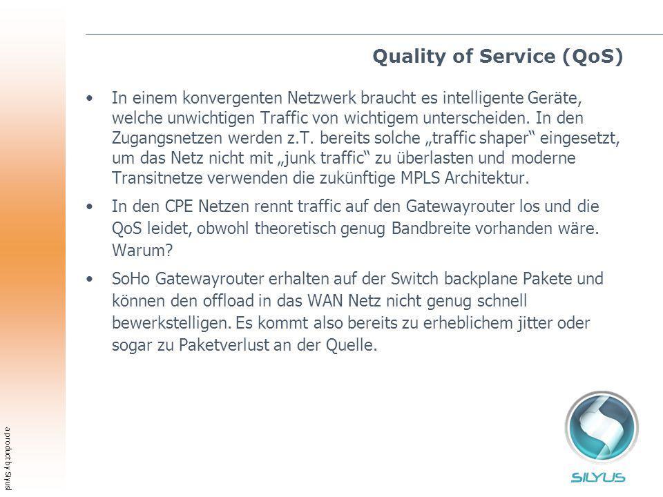 a product by Siyusl Quality of Service (QoS) In einem konvergenten Netzwerk braucht es intelligente Geräte, welche unwichtigen Traffic von wichtigem unterscheiden.