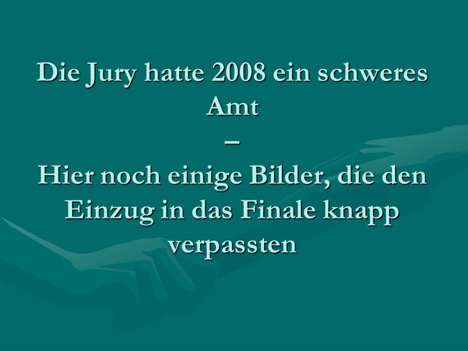 Die Jury hatte 2008 ein schweres Amt – Hier noch einige Bilder, die den Einzug in das Finale knapp verpassten