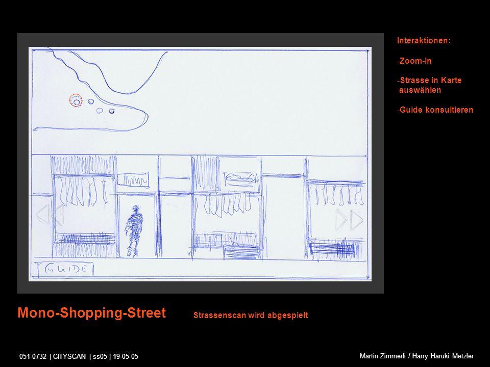 051-0732 | CITYSCAN | ss05 | 19-05-05 Martin Zimmerli / Harry Haruki Metzler Zoom-In Interaktionen: -Zoom-In verlassen Strassenscan und Zoom-In werden abgespielt