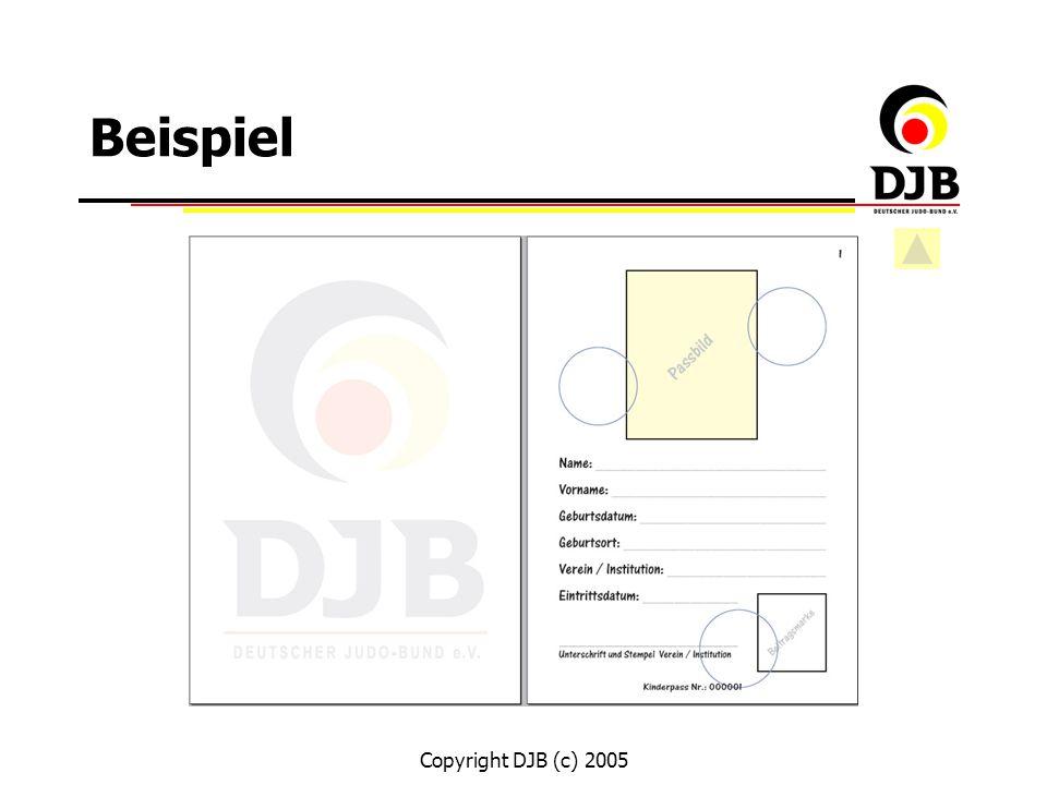 Copyright DJB (c) 2005 Offene Fragen ? Vielen Dank ! Ende