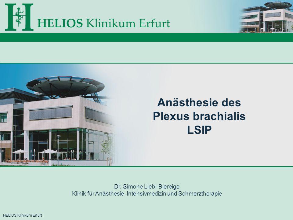 HELIOS Klinikum ErfurtKlinik für Anästhesie, Intensivmedizin und Schmerztherapie