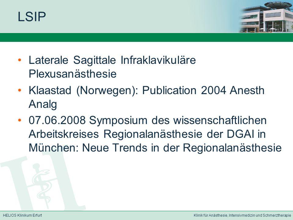 HELIOS Klinikum ErfurtKlinik für Anästhesie, Intensivmedizin und Schmerztherapie Anatomie – Plexus brachialis