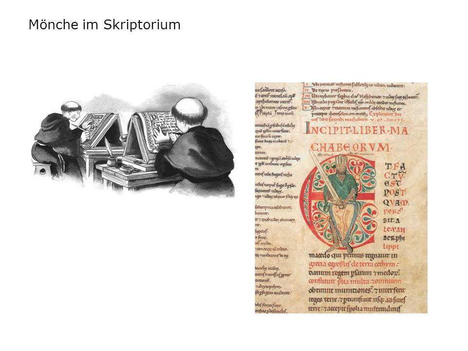 Mönche im Skriptorium