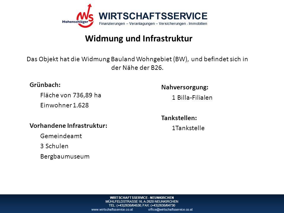 WIRTSCHAFTSSERVICE Finanzierungen – Veranlagungen – Versicherungen - Immobilien WIRTSCHAFTSSERVICE - NEUNKIRCHEN MÜHLFELDSTRASSE 16, A-2620 NEUNKIRCHEN TEL: (+43)2635/64530, FAX: (+43)2635/64730 www.wirtschaftsservice.co.atoffice@wirtschaftsservice.co.at Flächenwidmungsplan