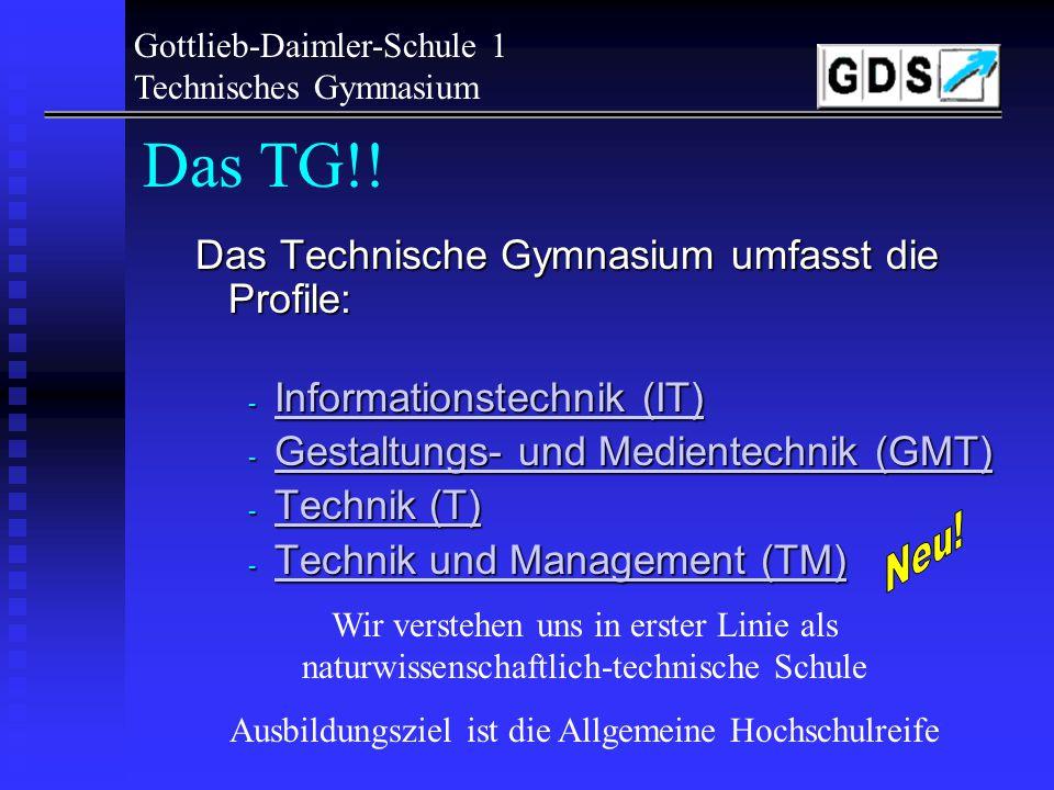 Gottlieb-Daimler-Schule 1 Technisches Gymnasium TG-Verwaltung - alle notwendigen Auskünfte, u.a.