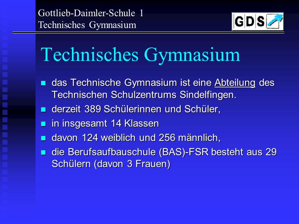 Gottlieb-Daimler-Schule 1 Technisches Gymnasium Das TG!.