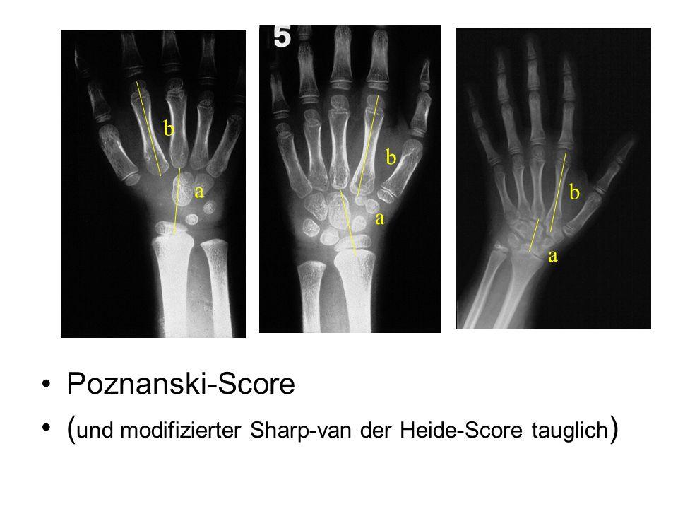 Poznanski-Score ( und modifizierter Sharp-van der Heide-Score tauglich ) a b a b a b