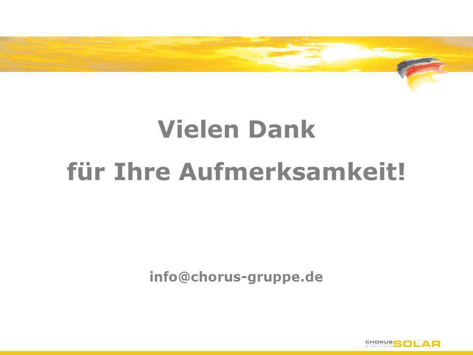 Vielen Dank für Ihre Aufmerksamkeit! info@chorus-gruppe.de