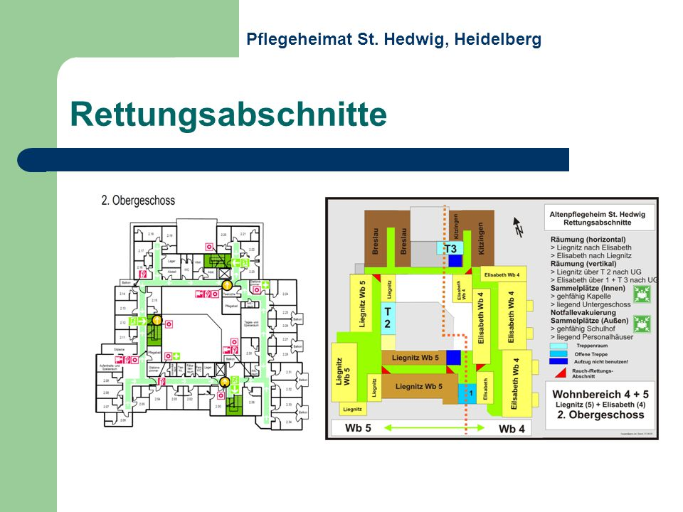 Rettungsabschnitte Pflegeheimat St. Hedwig, Heidelberg
