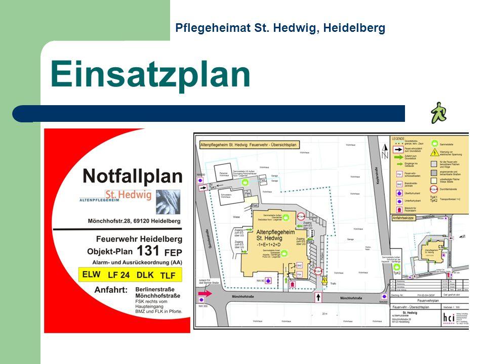 Einsatzplan Pflegeheimat St. Hedwig, Heidelberg