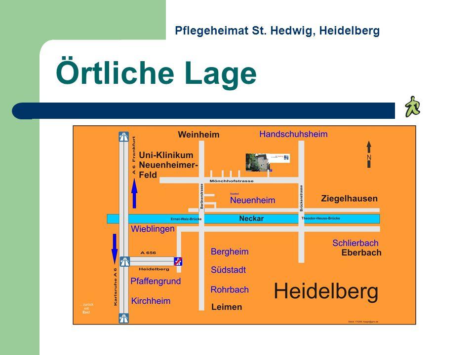 Örtliche Lage Pflegeheimat St. Hedwig, Heidelberg