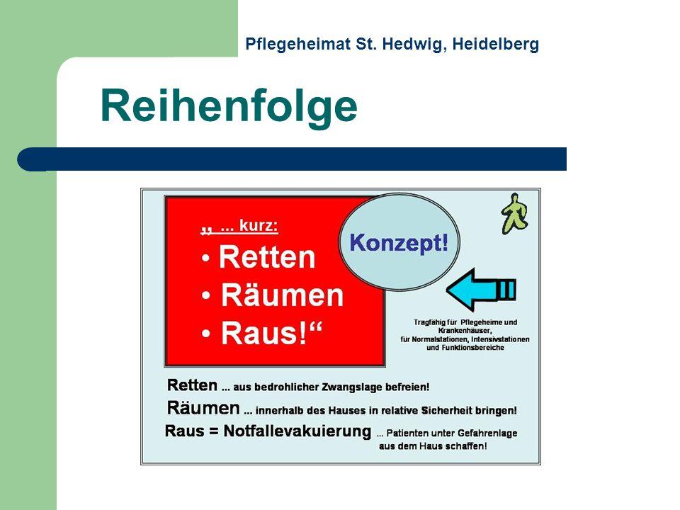 Reihenfolge Pflegeheimat St. Hedwig, Heidelberg