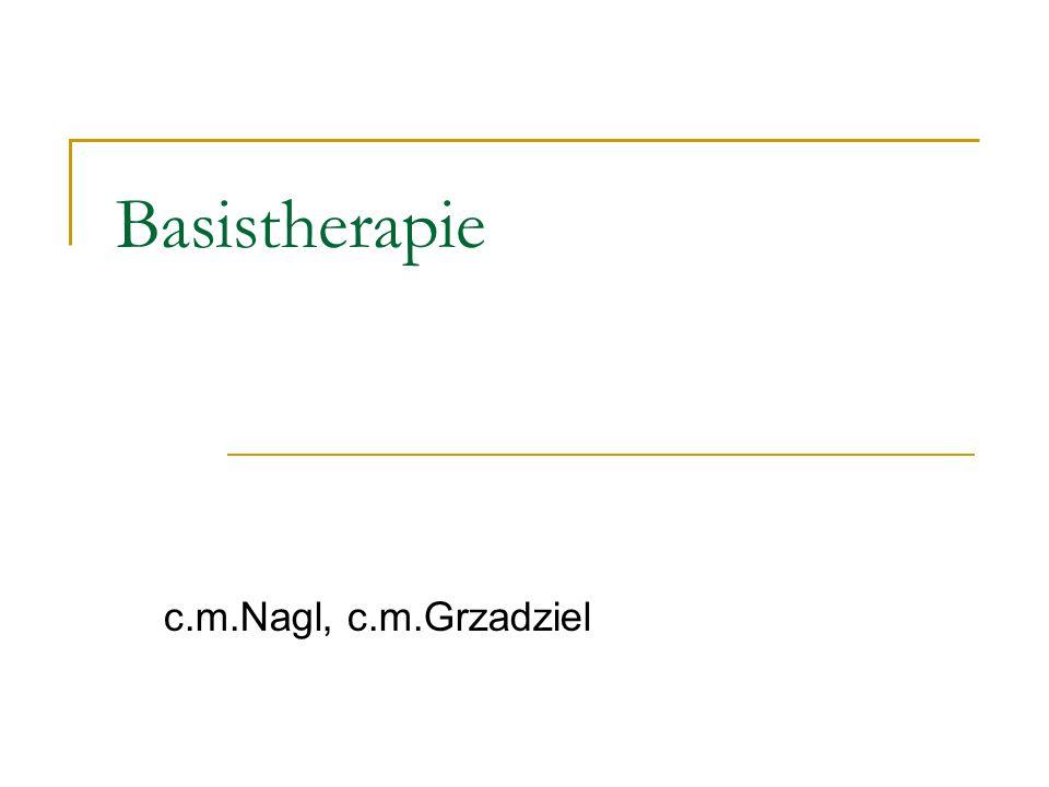 vor Beginn der 1.Basis-Therapie: Extraktionen von BNS- Zähnen Sanierung florider Karies mit WB zumindest beginnen okklusale Adjustierung (okklusales Einschleifen, etc.)