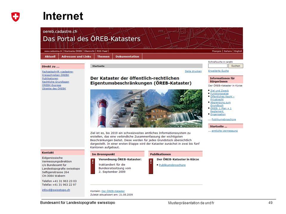 49 Bundesamt für Landestopografie swisstopo Musterpräsentation de und fr Internet