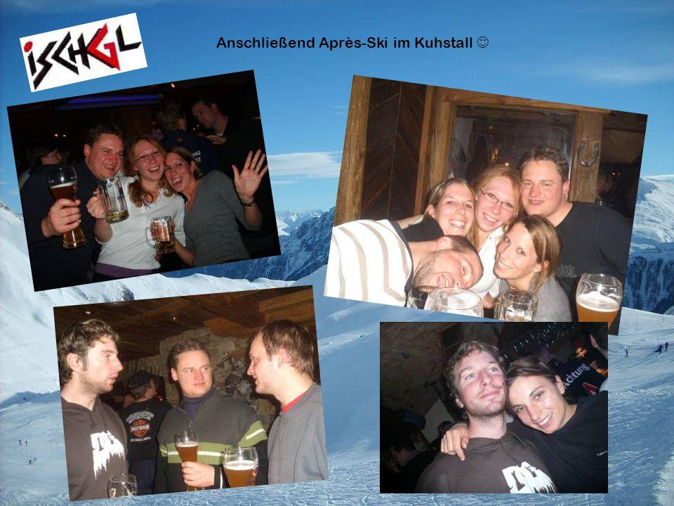 Anschließend Après-Ski im Kuhstall