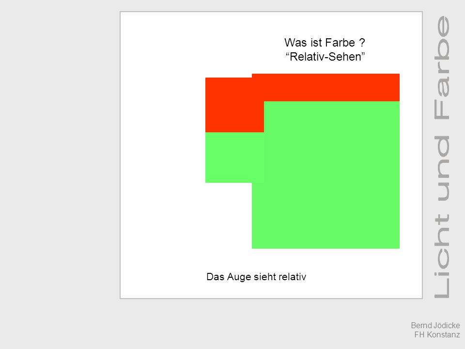 Das Auge sieht relativ Was ist Farbe ? Relativ-Sehen Bernd Jödicke FH Konstanz
