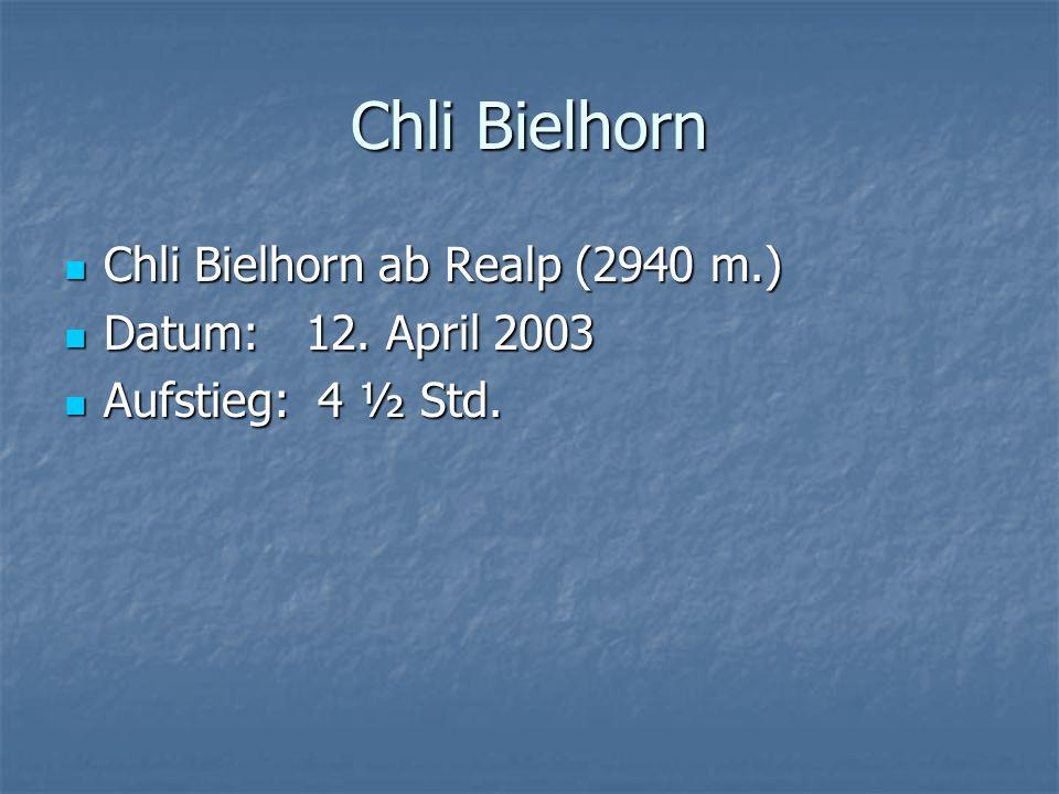 Chli Bielhorn Chli Bielhorn ab Realp (2940 m.) Chli Bielhorn ab Realp (2940 m.) Datum: 12.