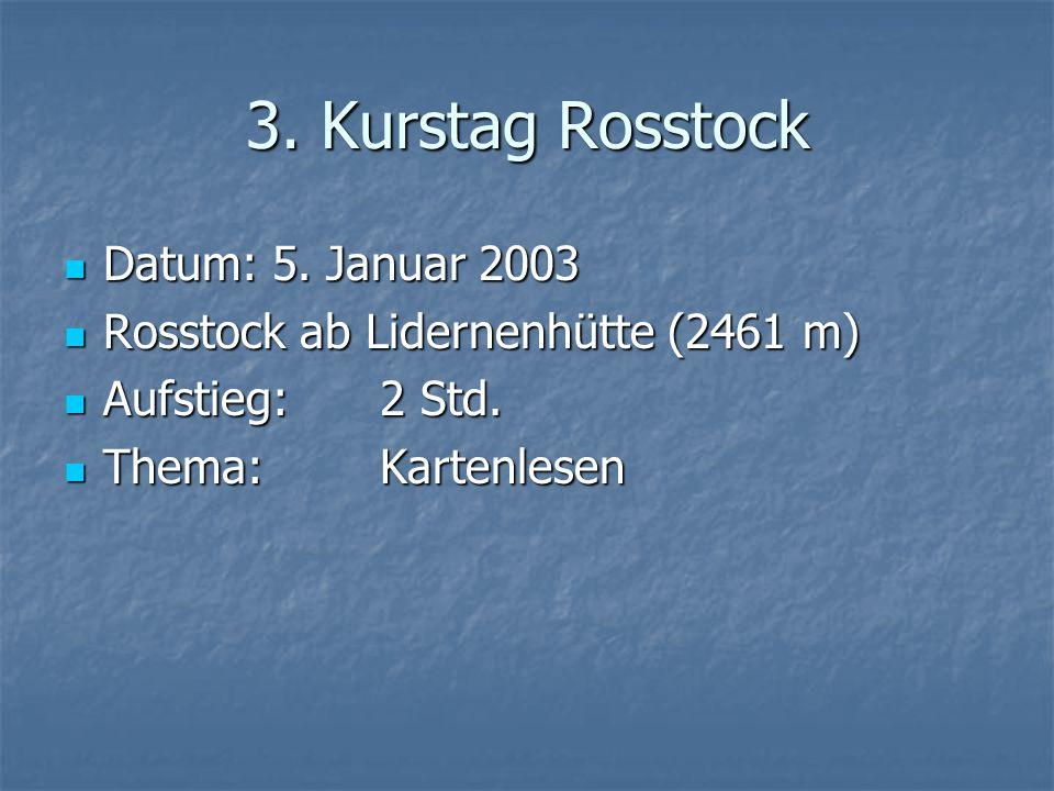 3. Kurstag Rosstock Datum: 5. Januar 2003 Datum: 5.