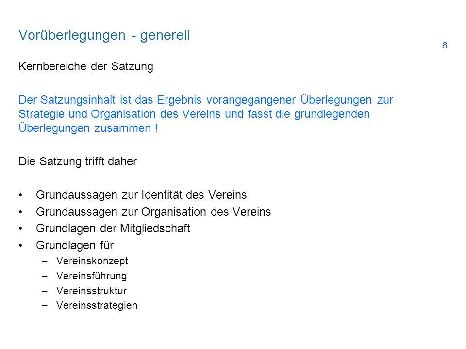 Vereins- und Verbandsrecht Mehrheiten/ Aktuelle Gesetzesänderung §§ 32 Abs.