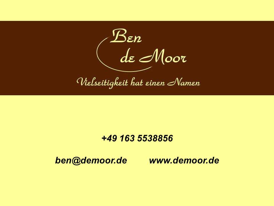 +49 163 5538856 ben@demoor.de www.demoor.de