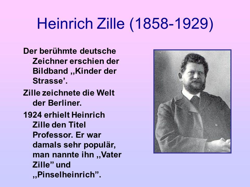 Heinrich Zille (1858-1929) Der berühmte deutsche Zeichner erschien der Bildband,,Kinder der Strasse. Zille zeichnete die Welt der Berliner. 1924 erhie