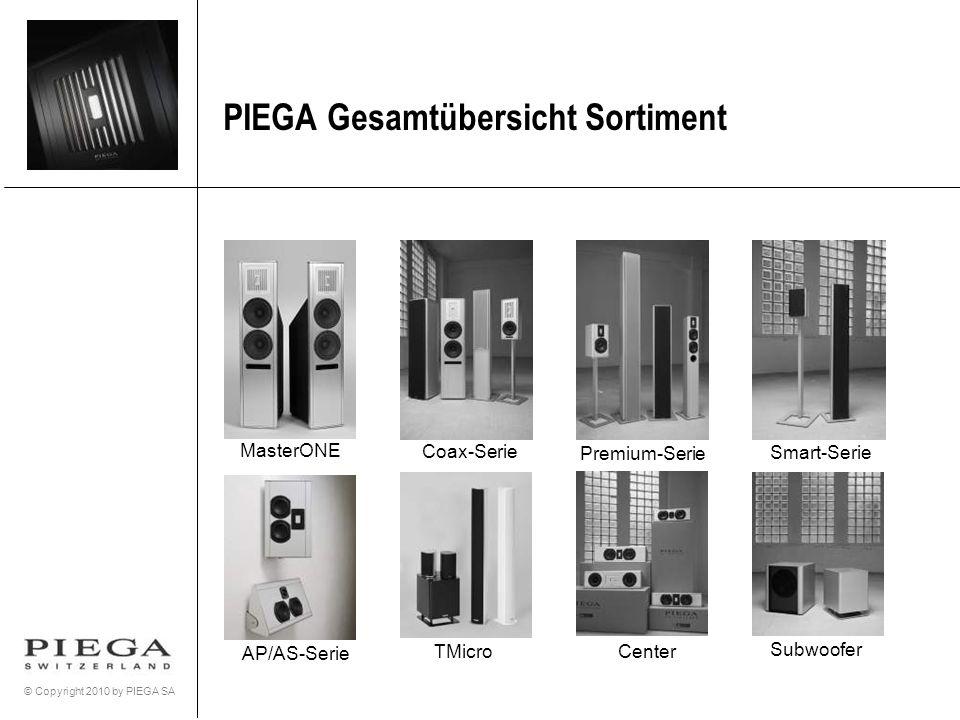 © Copyright 2010 by PIEGA SA PIEGA Gesamtübersicht Sortiment Subwoofer Center AP/AS-Serie MasterONE Coax-Serie Premium-Serie Smart-Serie TMicro