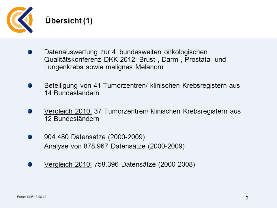 Forum KKR 13.06.12 2 Datenauswertung zur 4.