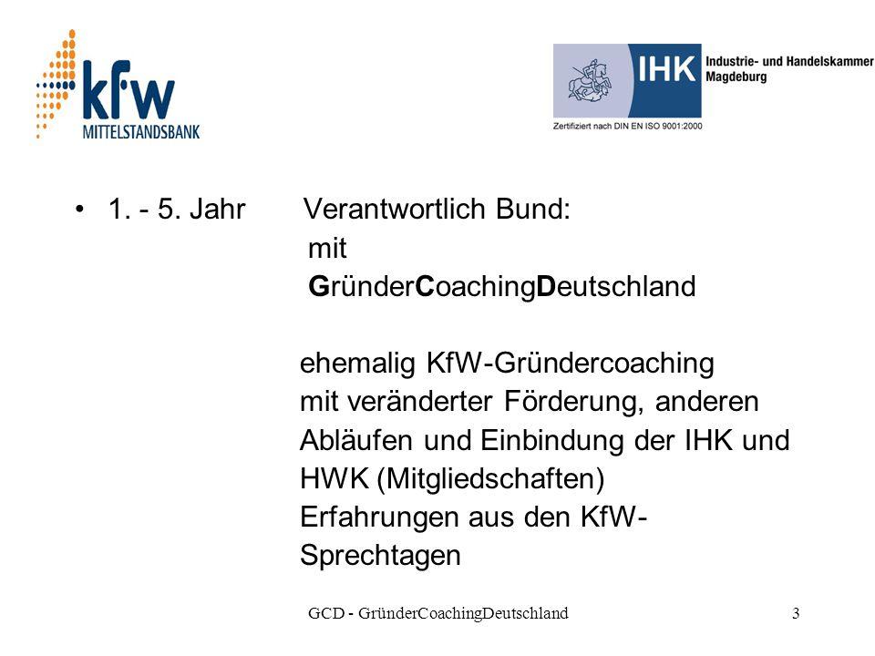 GCD - GründerCoachingDeutschland3 1. - 5.