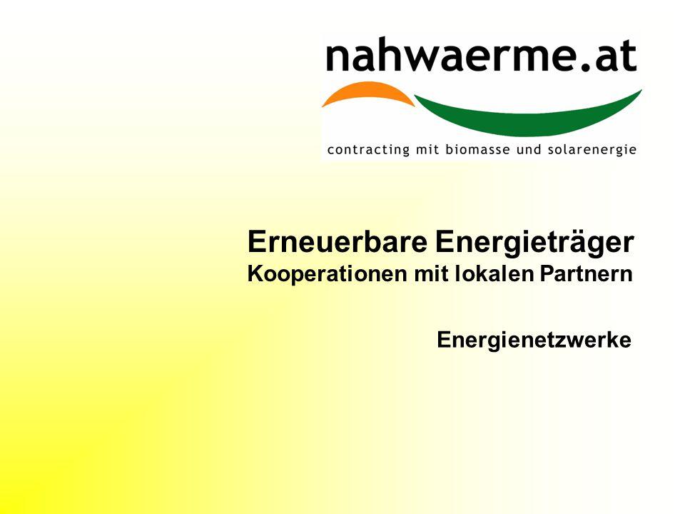 Erneuerbare Energieträger Kooperationen mit lokalen Partnern Energienetzwerke
