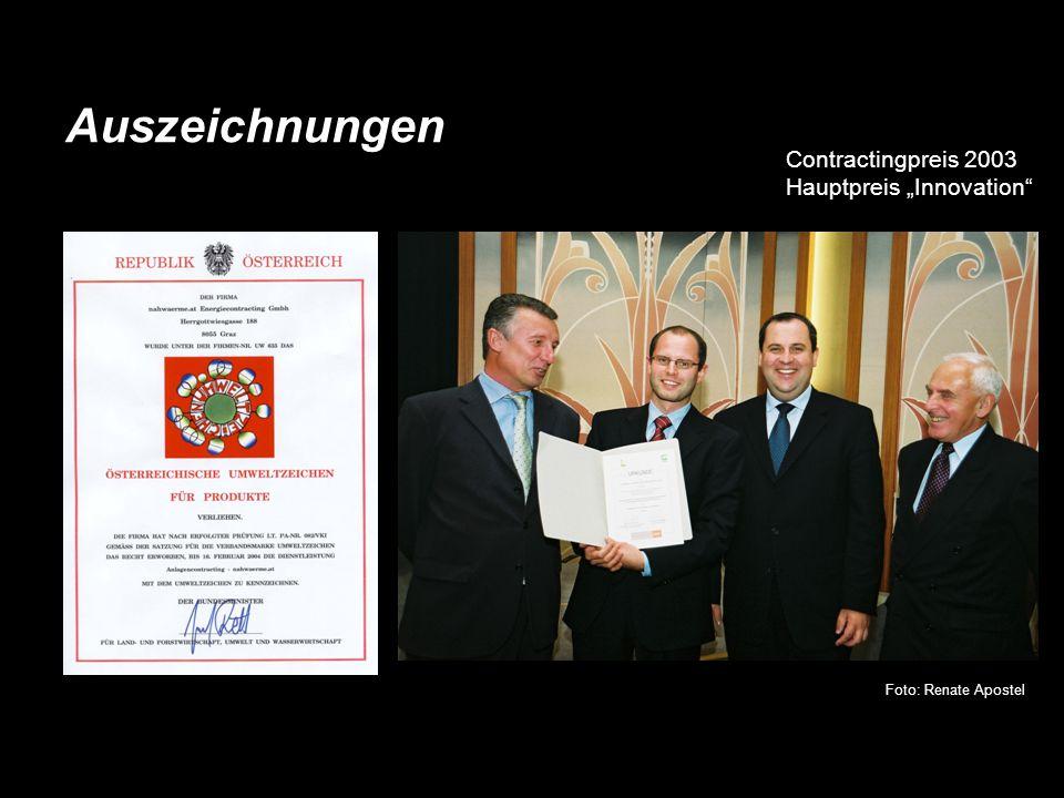 Foto: Renate Apostel Contractingpreis 2003 Hauptpreis Innovation
