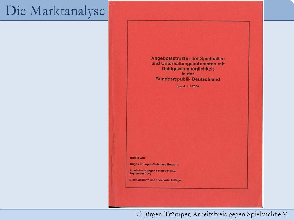 © Jürgen Trümper, Arbeitskreis gegen Spielsucht e.V. Die Marktanalyse
