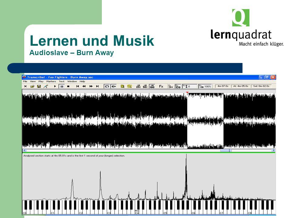 Lernen und Musik Audioslave – Burn Away