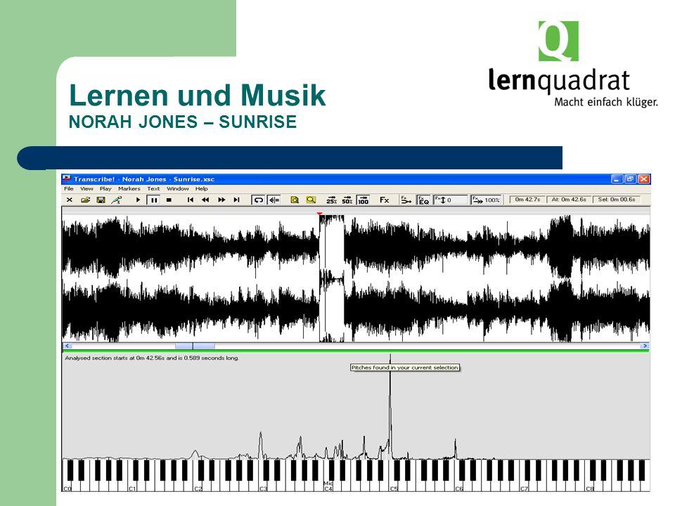 Lernen und Musik NORAH JONES – SUNRISE
