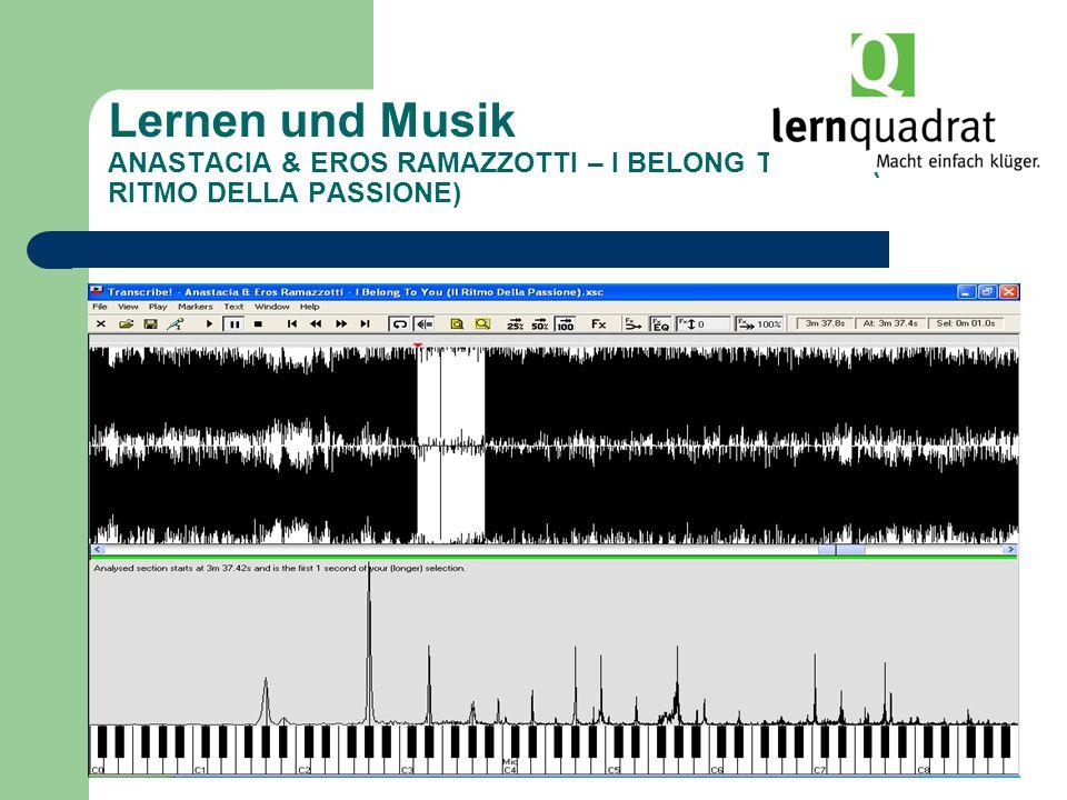 Lernen und Musik ANASTACIA & EROS RAMAZZOTTI – I BELONG TO YOU (IL RITMO DELLA PASSIONE)