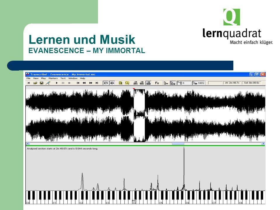 Lernen und Musik EVANESCENCE – MY IMMORTAL