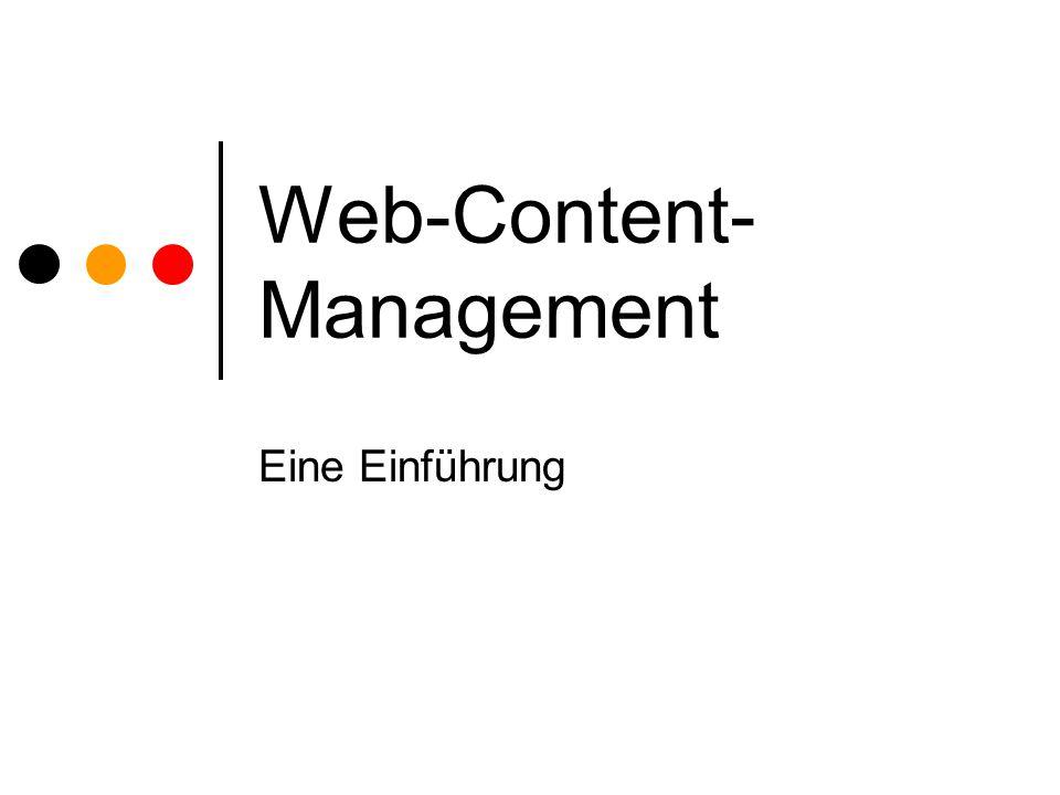 Web-Content- Management Eine Einführung